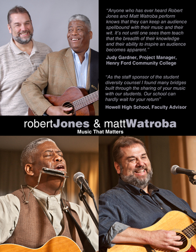 Robert Jones and Matt Watroba One Sheet Side 1