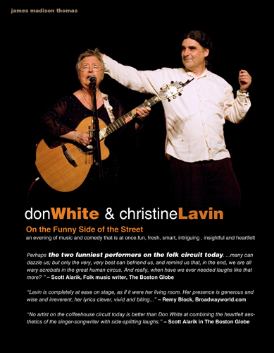Don White & Christine Lavin One Sheet side 1